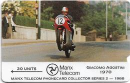 Isle Of Man - Giacomo Agostini - TT Racers 1988 - 1988, 6.000ex, Used - Isla De Man