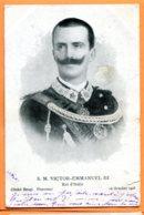 Man937, Roi D'Italie, S. M. Victor-Emmanuel III, Italia, Cliché Brogi , Précurseur, 1 Petite Fente, Circulée 1903 - Case Reali