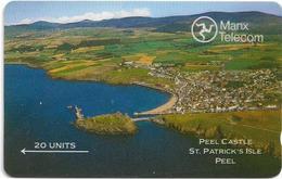 Isle Of Man - Peel Castle (shallow Notch), 5IOMA - 20U, 1989, Used - Isla De Man