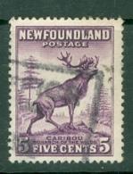 Newfoundland: 1932/38   Pictorial  SG225     5c   Violet   Used - 1908-1947