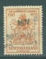 Newfoundland: 1933   350th Anniv Of Humphrey Gilbert's Annexation  SG238   3c    Used - 1908-1947