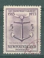 Newfoundland: 1933   350th Anniv Of Humphrey Gilbert's Annexation  SG240   5c    Used - Newfoundland