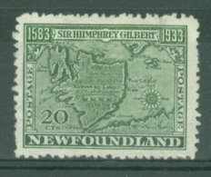 Newfoundland: 1933   350th Anniv Of Humphrey Gilbert's Annexation  SG247   20c    MH - Newfoundland