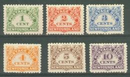 Newfoundland: 1939/49   Postage Due Set   SG D1-D6    MH - Newfoundland