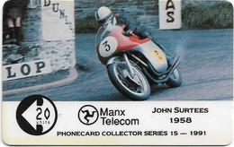 Isle Of Man - John Surtees - TT Racers 1991 - 9IOMC - 1991, 5.503ex, Used - Man (Eiland)