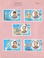 31864. Lote Filatelico OMAN 1971. Space, Espacio Astronautas SOYOUZ 11 And American Mercury - Omán