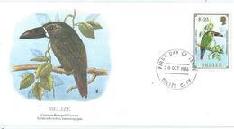 Enveloppe 1er Jour Belize FDC 1986 - Belize (1973-...)