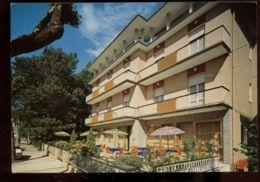 C713 BELLARIVA DI RIMINI - PENSIONE ARDESIA IN VIA DELLE RIMEMBRANZE VG 1988 FRANCOBOLLO ASPORTATO - Rimini