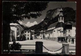 C751 CENCENIGHE (BELLUNO) - LA PIAZZA B\N VG - Other Cities