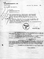 Antwerpen  Ortskommandantur 1/702  Beschlagnahme  Befehl + 3 Brieven  1942 Weltkrieg - 1939-45