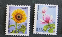 FRANCE - 2008 - TIMBREs Preobliteres - 257** Et 258** - Fleurs Sauvages - Preobliterati