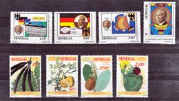 Sénégal 1009 1012 GT Et 1013 1016 GT Flore Et Chancelier Adenauer  Neuf ** TB MNH Sin Charnela - Sénégal (1960-...)