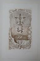 Ex-libris Illustré Tchecoslovaquie XXème - AD. MALY - NA PAMET VITEZSTVI 9. V. 1945 - Epée Et Croix Gammée - Ex-libris