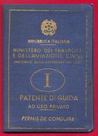 PATENTE DI GUIDA - 1966  Repubblica Italiana  -  Marche Da Bollo - Documenti Storici