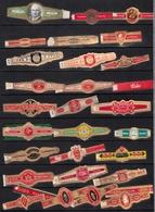 Lettres L-M  Beau Lot De  30  Bagues De Cigare Différentes - Cigar Bands