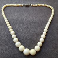 Ancien Collier Ivoire Old Ivory Années 30 - Necklaces/Chains