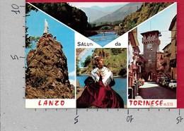 CARTOLINA VG ITALIA - Saluti Da LANZO TORINESE (TO) - Vedutine Multivue - 10 X 15 - ANN. 1975 - Saluti Da.../ Gruss Aus...