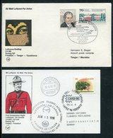 Flugpost / 4 Erstflugbelege (FFC) (7246-30) - Briefmarken