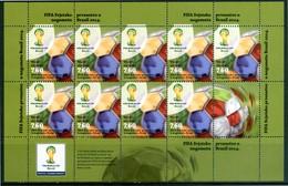 """CROAZIA / CROATIA 2014** - FIFA World Cup - """"Brasil 2014"""" . Block MNH, Come Da Scansione. - Coppa Del Mondo"""