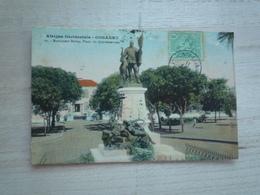1911 AFRIQUE OCCIDENTALE CONAKRY MONUMENT BALLAY PLACE DU GOUVERNEMENT CIRCULÉE DOS DIVISE  ETAT BON COLORISÉE - Guinée Française