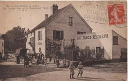 MOUROUX  LA GRANDE RUE ET LE RESTAURANT FAROY - Sonstige Gemeinden