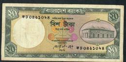 BANGLADESH P27b 20 TAKA 1984     3,75 Mm Tall S/n  FINE 2 P.h. - Bangladesh