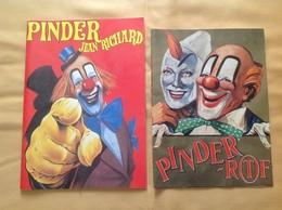 2 Programmes Du Cirque Pinder Jean Richard Et ORTF - Programmi