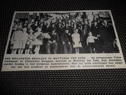 """Origineel Knipsel ( 2413 ) Uit Tijdschrift """" Ons Volk """"  1936  :   Wetteren Ten Eede - Zonder Classificatie"""