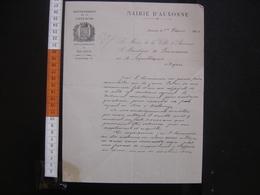 1934 Lettre Maire Auxonne 21 Au Procureur De La Republique Dijon CORRECTIONNELLE - Manuscrits