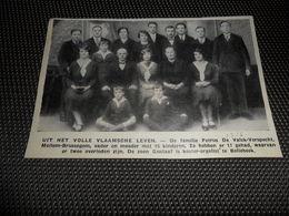 "Origineel Knipsel ( 2425 ) Uit Tijdschrift "" Ons Volk ""  1936  :   Mollem - Brussegem - Vieux Papiers"