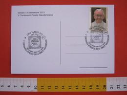 A.08 ITALIA ANNULLO - 2013 VARALLO VERCELLI VALSESIA 500 ANNI PARETE GAUDENZIANA FERRARI CHIESA SANTA MARIA GRAZIE ARTE - Religione