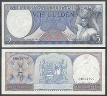 SURINAME - 5 Gulden 01.09.1963 UNC P.120 B - Surinam