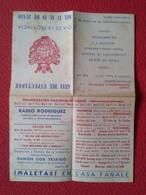 DOCUMENTO HOJA DÍPTICO PUBLICIDAD ANUNCIOS VARIADOS NÚMEROS PREMIADOS ONCE CIEGOS SORTEO CATALUÑA ?? OLD ADVERTISING VER - Publicidad