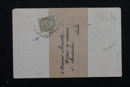 FRANCE - Affranchissement Type Blanc 1 Ct Sur Bande Journal ( Carte Postale Publicitaire Médicale ) - L 22638 - Storia Postale