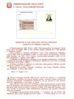 Italia 1982 BOLLETTINO ILLUSTRATIVO N. 10 CARTOLINA POSTALE:TOMMASO TRAETTA. - 6. 1946-.. Republic