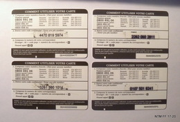 BELGIUM Calling Cards - MEGA Tel - LycaTel - Year 2007 - Pre Paid Cards X 4. (€5) Used. - Belgium