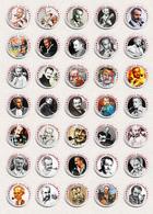 35 X Georges Brassens Music Fan ART BADGE BUTTON PIN SET 1 (1inch/25mm Diameter) - Music