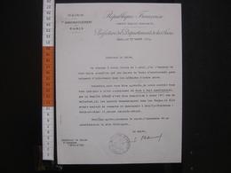 1934 Lettre Maire De IXe Paris Au Maire Auxonne 21 - Manuscrits