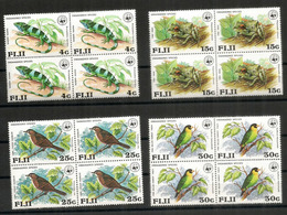 Protection De La Faune Locale Des FIDJI, 4 Blocs De 4 Neufs **  Côte 60,00 Euro - Fidji (1970-...)