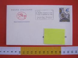A.08 ITALIA ANNULLO - 2001 RAVENNA TARGHETTA EURO MONETA MONEY IL CAMBIUO CHE NON TI CAMBIA LA VITA - Monete