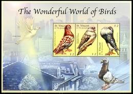 ST VINCENT & GRENADINES 2000** - Uccelli / Birds -  Block Di 3 Val. MNH, Come Da Scansione. - Uccelli