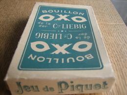 Jeu De Cartes Ancien PIQUET De 36 Cartes (+ Un Joker) PUB Bouillon OXO De La Cie LIEBIG - Cartes à Jouer Classiques