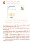 Italia 1981 BOLLETTINO ILLUSTRATIVO N. 14bis CARTOLINA POSTALE:RICCIONE '81. - 6. 1946-.. Republic