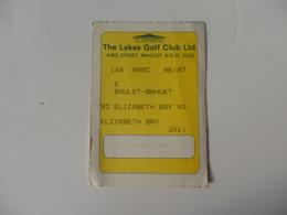 Ticket The Lake Golf Club Ltd. King Street, Mascot, N.S.W. 2020 Elizabeth Bay Banlieue De Sydney Australia. - Other