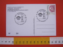 A.08 ITALIA ANNULLO - 2004 BORGOMANERO NOVARA MOSTRA FILATELICA 9^ SELEZIONE REGIONALE CADETTI PHIL MADONNA MARIA STATUA - Esposizioni Filateliche