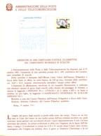 *Italia 1981 BOLLETTINO ILLUSTRATIVO N. 22 CARTOLINA POSTALE:CAMPIONATO MONDIALE DI SCACCHI. - 6. 1946-.. Republic