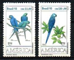 BRESIL. N°2136-7 De 1993. UPAEP/Aras. - Parrots