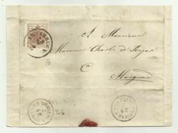 FRANCOBOLLO DA  6  KREUZER INNSBRUCK 1858 BUONI MARGINI SU FRONTESPIZIO - 1850-1918 Imperium