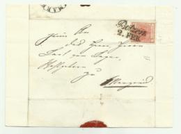 FRANCOBOLLO DA  3  KREUZER BOTZEN  1853 BUONI MARGINI SU FRONTESPIZIO - 1850-1918 Imperium