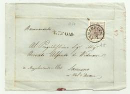 FRANCOBOLLO DA 6  KREUZER INNSBRUCK  1854 CON BUONI MARGINI    SU FRONTESPIZIO - 1850-1918 Keizerrijk